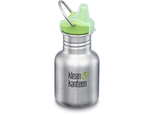 Klean Kanteen Classic Gourde 355ml avec couvercle New Sippy, brushed stainless